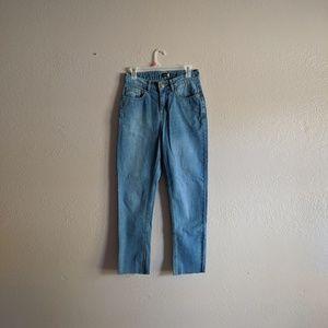 Boohoo raw hem mom jeans